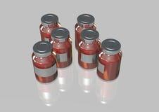 100ml pustego miejsca butelki brąz biel ścinku szkło zawrzeć odosobnionej etykietki pokrywkowego medycyny ścieżki biel Obrazy Royalty Free