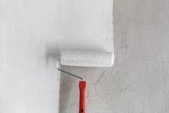 Måla en vägg. Royaltyfri Fotografi