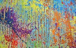 måla färgstänk Arkivfoto