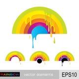 måla regnbågen Arkivfoto
