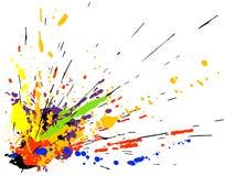 måla splatteren Arkivfoton