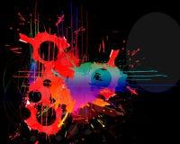 måla splatters Fotografering för Bildbyråer