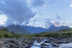 Mlambonia River below Rhino Peak Stock Photography