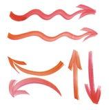 Målarfärg dragen piluppsättning vektor för bild för designelementillustration Fotografering för Bildbyråer