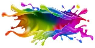Målarfärgfärgstänkdesign Arkivbild