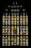 Målat glassfönster Westminster Hall London Arkivbild