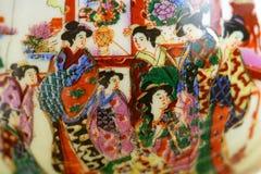 målat porslin Arkivbilder