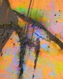 Målat rostabstrakt begrepp Arkivbild