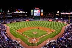 MLB Atlanta brave - par derrière la plaque à la maison Photo libre de droits