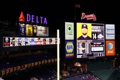 MLB Atlanta Braves - marcador del campo de Turner Imágenes de archivo libres de regalías