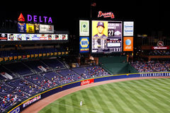 MLB Atlanta Braves - Scorebord en outfield Stock Fotografie