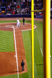 MLB Atlanta BravesTurner Field Foul Pole Stock Photo