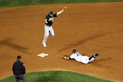 MLB - headfirst no segundo! imagem de stock royalty free