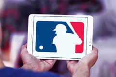 MLB, logotipo de Major League Baseball imagen de archivo libre de regalías