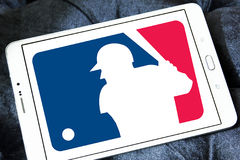 MLB , Major League Baseball logo. Logo of american MLB , Major League Baseball on samsung tablet Stock Photography