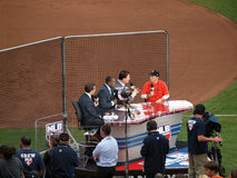 MLB Network crew interviews Rob Schneider Royalty Free Stock Photography