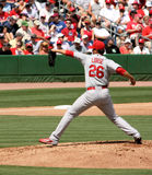 MLB St Louis Cardinals Pitcher Kyle lohse. MLB St Louse Cardnials pitcher Kyle Lohse throwing a pitch. March 15th in Clearwater florida Pre season game at Bright royalty free stock photos