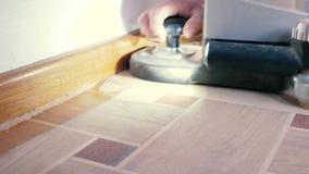 Mleć parkietowa podłoga zdjęcie wideo