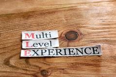 MLE- Multi Level Experience Royalty Free Stock Photos