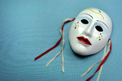 Mlecznoniebieska ceramiczna maska Zdjęcia Royalty Free