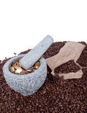 Mleje kawowego biznes Obrazy Stock