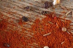 Mleje paprica kolorowego tło, zakończenie, płytka głębia pole Fotografia Stock