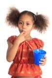 mleko amerykański azjatykci dzieci napojów włosy tęsk mleko Fotografia Stock