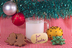 Mleko dla Santa na wigilii Obraz Royalty Free