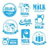 Mleko etykietki Fotografia Stock