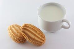 Mleko i cukierki Obraz Royalty Free