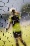 målet förtjänar fotboll Royaltyfri Foto