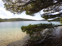 Mljet Croatia. A lake in the National park in Northern part of Mljet Island in Croatia Royalty Free Stock Images