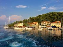 Mljet-Hafen, Kroatien stockbild
