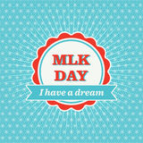MLK Day Badge Stock Image