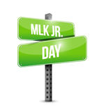 MLK jr. day arrow sign illustration design Stock Images