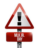 MLK jr. day attention sign illustration design Stock Photos