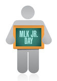 MLK jr. day board sign illustration design Royalty Free Stock Photo