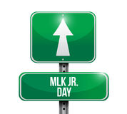 MLK jr. day road sign illustration design Stock Images