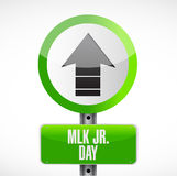 MLK jr. day street sign illustration design Royalty Free Stock Photos