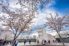 MLK Memorial in Washington DC. WASHINGTON - APRIL 9, 2015: The memorial to the civil rights leader Martin Luther King, Jr. during the spring season in West Stock Photos