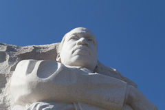 MLK's face. Martin Luther King Jr Memorial opened to the public in 2011 Royalty Free Stock Photo