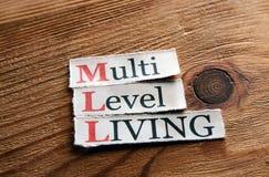 MLL- vie de niveau multi Image libre de droits