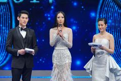 Mlle All Nations Thailand 2017, rond final Photographie stock libre de droits