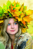 Mlle Autumn Photographie stock