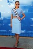 Mlle Etats-Unis Nia Sanchez 2014 du Nevada au tapis rouge avant la cérémonie 2014 de première d'US Open Photos libres de droits