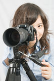 Mlle Photographer Photographie stock