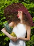 Mlle Pineapple Photographie stock libre de droits