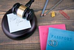 Mlle vous Divorce, amour et antécédents familiaux abstraits Photographie stock
