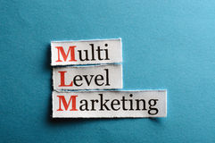 Mlm  abbreviation Stock Photos