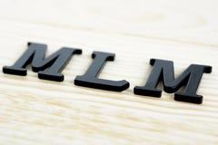 MLM-allsång på wood bakgrund Arkivbild
